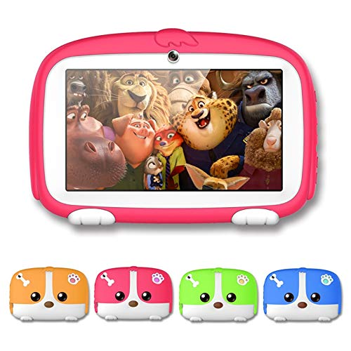 iMeshbean Child Tablet 7 inch Display PC 8GB Android 6.1 WiFi Quad Core Pre-Installed Educational Apps Best Gift for Child US (Green)