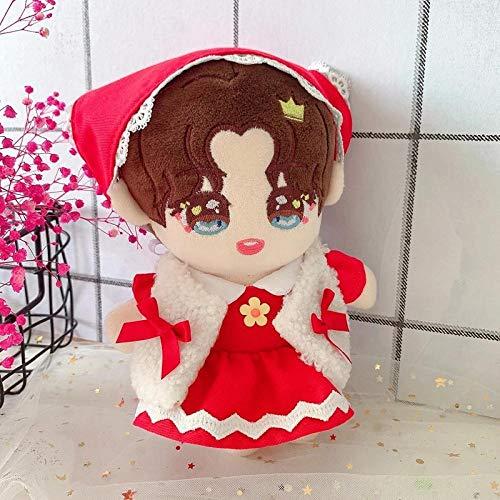 BOIPEEI 1 Pieza 20 cm Juguetes de Peluche Caperucita roja Vestido Rojo Ropa de bebé Idol Star Idol muñeca de Peluche Ropa Vestido de marioneta