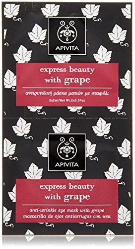 Apivita express beauty anti-wrinkle eye mask with grape 2x8ml