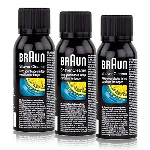 Braun Reinigungsspray für elektrische Rasierer Rasierapparate 100ml