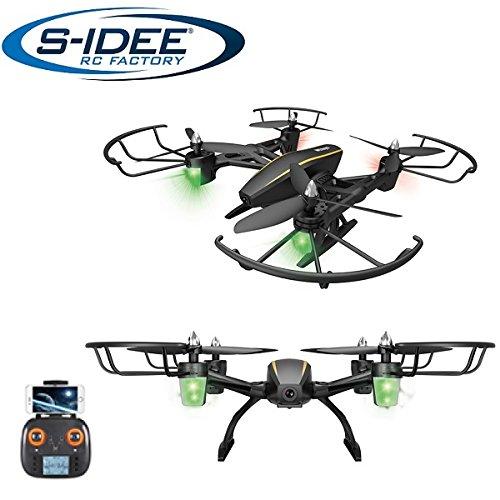 s-idee® 17105 S373 WiFi Drohne HD Kamera FPV Rc Quadrocopter Höhenstabilisierung One Key Return Coming Home VR Drohne Flip Funktion 2.4 GHz mit