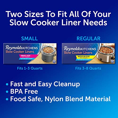 Reynolds Kitchens Slow Cooker Liners, Regular, 6 Count (Pack of 1)