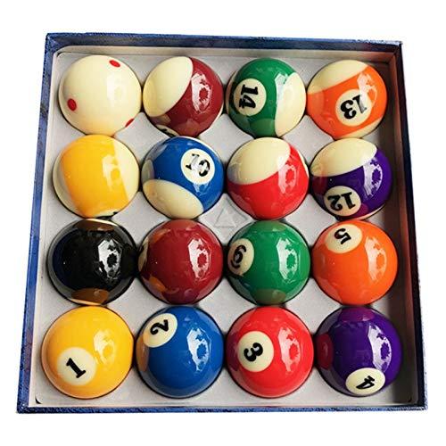 LSB-TAIQIU, 1set Billard Produkte Harz Billiard/Pool Table Ball Komplett-Set 2 1/4 \'\' Mit 6 roten Punkten Cue Ball