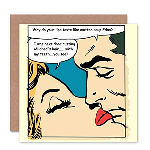 Wee Blue Coo Card Greeting Adult Content Comic Book Mutton Soup Gift