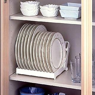 Storage Holders & Racks - Foldable Dish Plate Drying Rack Organizer Drainer Plastic Storage Holder White Kitchen Organizer