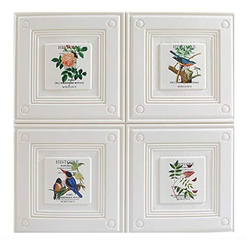 Wand-Sticker 3D Brick Wall Panels 3D Stone Wall Panels for Home Office, Familie Schlafzimmer Hervorgehoben Walls Schmutzige Wände (Größe: 70x70cm) (Color : White, Size : 10 Pack)