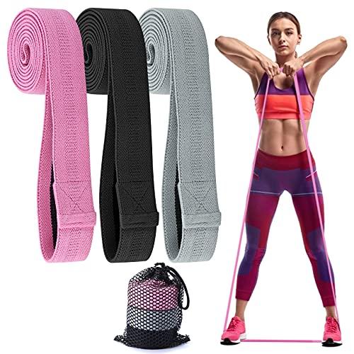Ukphail Elastici Fitness,Bande di Resistenza(3 Pezzi),con Borsa,3 Fitness in Tessuto con più Livelli di Resistenza Colorate,Fascia Elastica Palestra,Fitness/Perdita di Peso/Yoga/Danza/Pilates