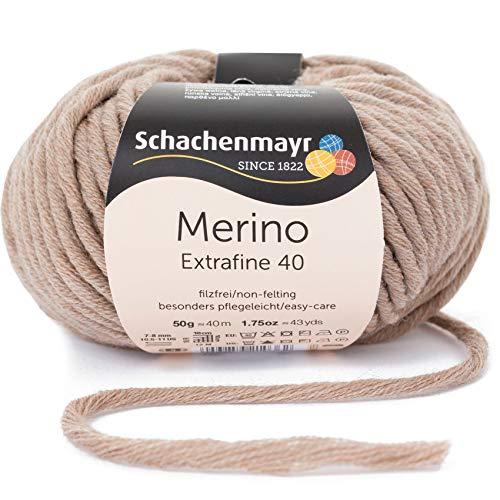 Schachenmayr Merino Extrafine 40 9807555-00304 sand meliert Handstrickgarn, Schurwolle