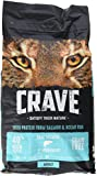 Crave Grain Free Dry Cat Food with Protein From Salmon and Ocean Fish Bag with Bonus Magnetic Feeding Guidelines, 2 lb (Pack of 2)