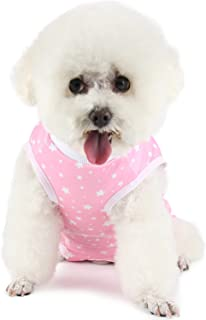 Due Felice Dog Surgical Recovery Suit Puppy Onesie Cat Bodysuits After Surgery for Abdominal Wounds Skin Diseases Pet E-Co...