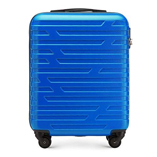 WITTCHEN Trolley Bagaglio a mano - Valigia rigida | Colore: Blu | Materiale: ABS | Dimensioni: 54x39x23 | Peso: 2,7 kg | Capacità: 38 L | 4 ruote