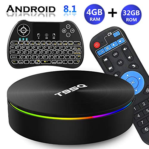 Android TV Box 8.1, EVANPO Android TV Player Quad-Core Amlogic S905X2 4GB/32GB Support Dual Band...