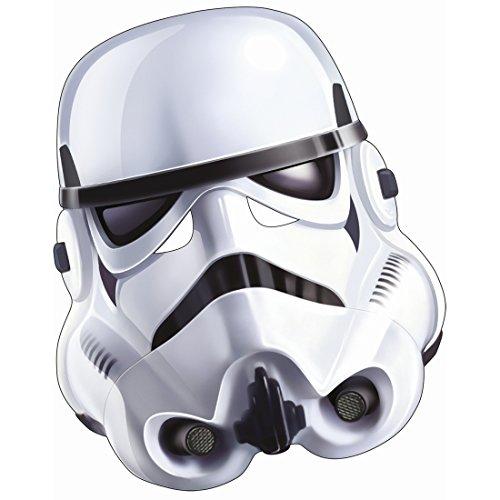 NET TOYS Original Star Wars Stormtrooper Maske Pappe Clone Trooper Pappmaske Erwachsener Das Erwachen der Macht Kriegermaske Captain Rex Soldatenmaske Klonkrieger Filmmaske Partymaske Movie Maker