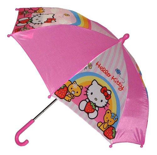 alles-meine.de GmbH Regenschirm -  Hello Kitty  - Kinderschirm 56 cm lang - für Kinder Stockschirm Schirm - Mädchen Schirm pink Katze rosa Kinderregenschirm - Mädchenschirm Kat..