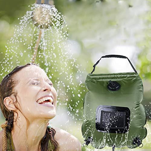 Premium 20L Calefacción solar Ducha de camping Bolsa de agua para agua...