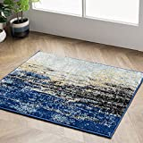 NuLOOM Waterfall Vintage Abstract Accent Alfombra, 2' x 3', Azul