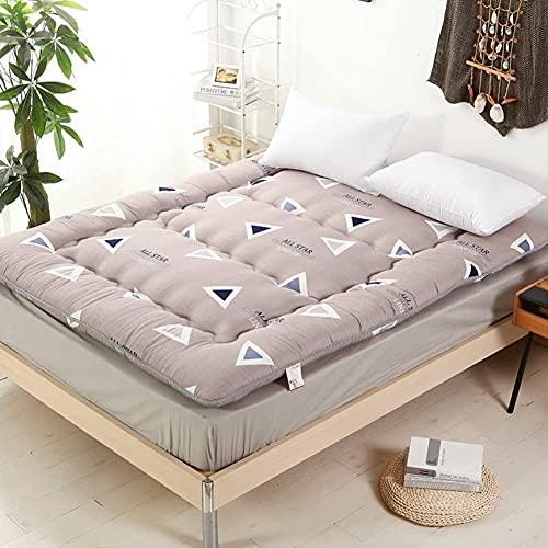 Colchón futón, plegable y grueso, colchón tradicional japonés, acolchado de tatami, acolchado y mullido, sobrecargado, piso de tatami portátil (tamaño: 180 x 220 cm), color: L)