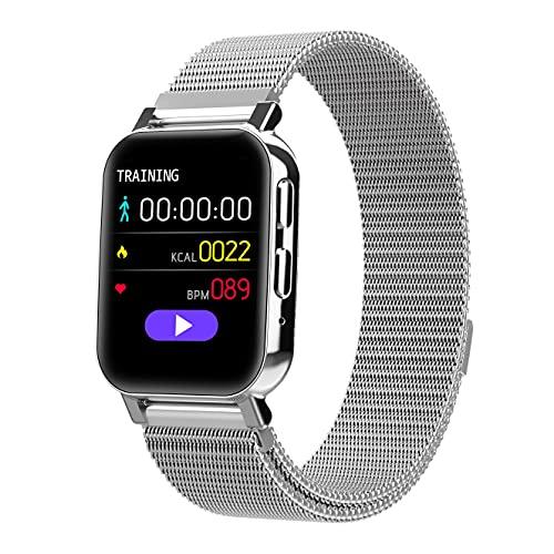 ZGZYL HZ28 Señoras Smart Watch Pass Bluetooth, Rastreador De Cronometrador De Seguimiento De Fitness para Hombre Reloj Deportivo con Presión Arterial Y Monitoreo De Frecuencia Cardíaca,G