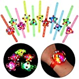 SCIONE Birthday Party Favors 48 Pack Kids Party Favors Goodie Bag Stuffers Light Up Bracelets Fidget Toy Pack Return Gifts for Kids Birthday Halloween Christmas Valentines Easter Light Up Party Faovrs