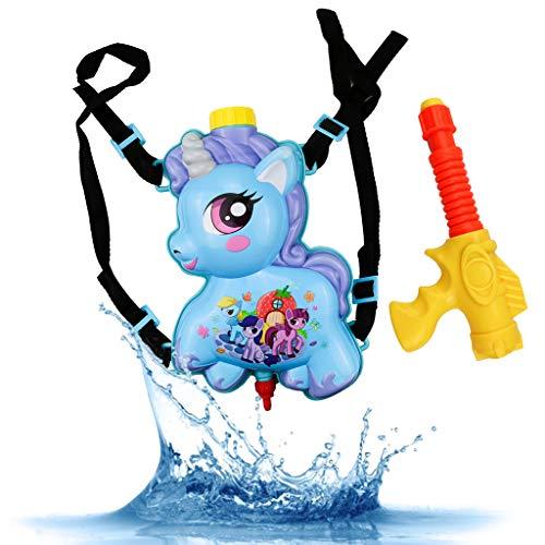 Amycute Unicorn rugzak Waterpistool Water Blaster Waterschutter, Zomer buitenzwembad strand waterspeelgoed voor kinderen