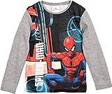 Spiderman Langarmshirt Jungen Marvel Grau (98-104)