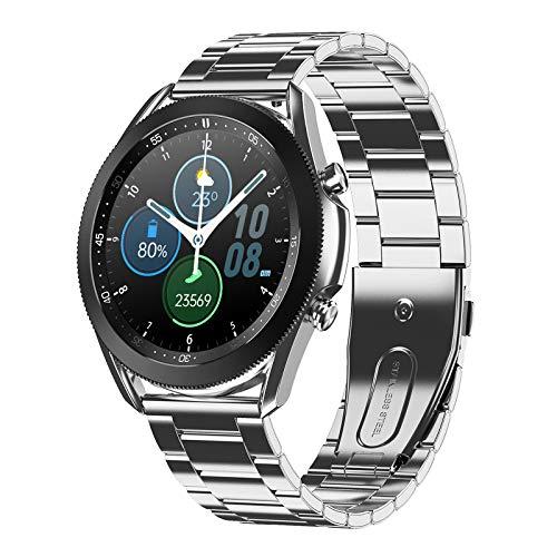 Gulu 2021 Nuevo Bisel Giratorio Smart Watch Llamada Bluetooth Llamada SmartWatch Pantalla táctil Completa Tipo de corazón Monitor de presión Arterial Monitor de Deporte W3,E