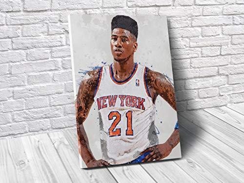 Iman Shumpert New York Knicks Poster/Canvas Print - Basketball Artwork - Kids Room Wall Decor - Man Cave - Sports Decor - Birthday Gift Idea (Premium Canvas, 24 x 36 Inches) image