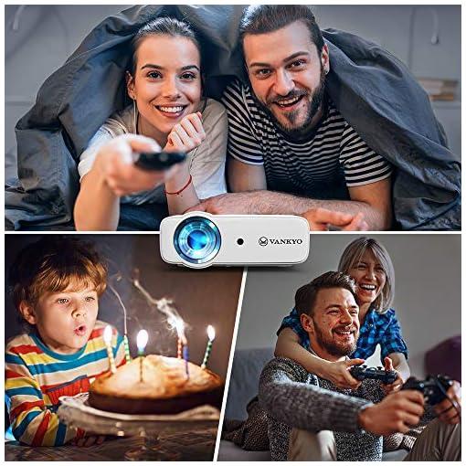 VANKYO Proyector 5000 lúmenes con Pantalla de 236 Pulgadas, soporta 1080P, HiFi Speaker, con Bolsa portátil, para TV… 6