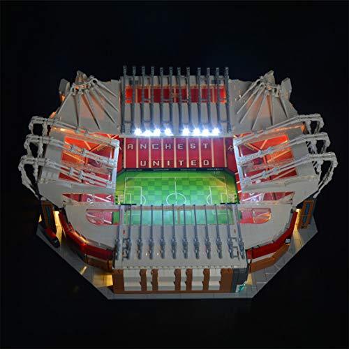 PARIO Conjunto de Luces para Lego Old Trafford Manchester United Stadion, Kit de luz LED Compatible con Lego 10272, Versión de Control Remoto