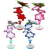 OSALADI 4pcs Colorful Fiber Optic Flower Light Enchanted Silk Flower Led Lamp for Party Wedding Valentines Day Home Decor