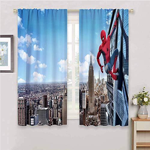 Zmcongz Tenda oscurante in tessuto impermeabile, Spiderman, Spiderman, Poliestere, O, W42 x L63 Inch(K107cm x G160cm)