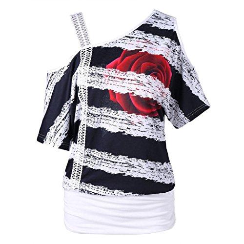 JUTOO Mode Dawomen Casual Kurzarm Skew Neck T-Shirt Tops
