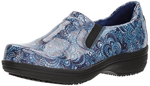 Easy Works womens Bind Health Care Professional Shoe, Blue Mosaic Pa, 7.5 US