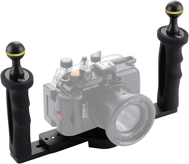 JHMJHM de Buzo del Producto Estabilizador de Bandeja de Aluminio de Doble manija para Carcasas de cámara subacuática Fotografía submarina Armas