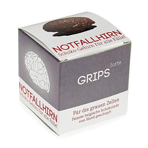 Monsterzeug Schokoladenhirn für Notfälle, Notfallhirn aus Schokolade als Glücksbringer, Gehirn aus Vollmilch-Schokolade, Schokoladengeschenk