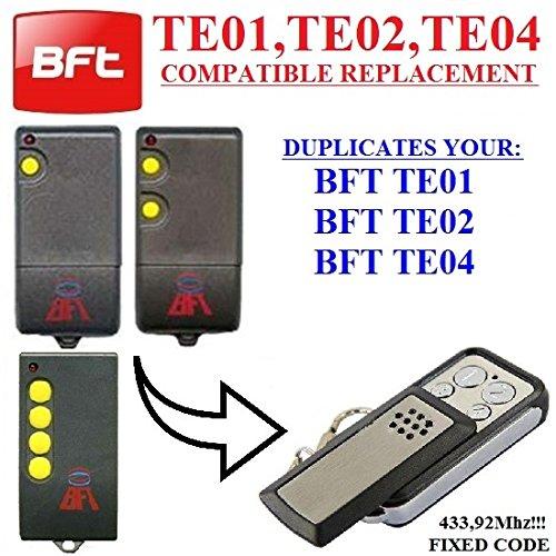 mando 433.92 mhz fabricante BFT compatible remote control / clone