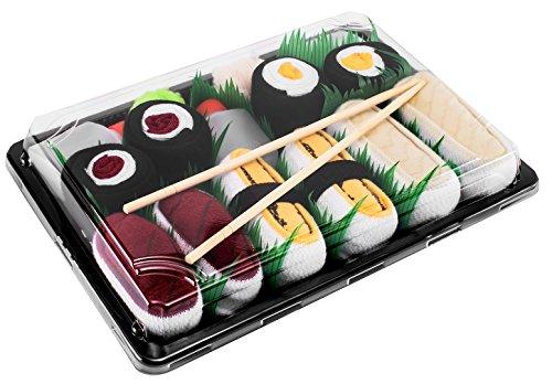 Rainbow Socks - Damen Herren - Sushi Socken Tamago Butterfisch Thunfisch 2x Maki -...