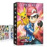 QIFAENY Porta Carte Pokemon, Album Pokemon, Raccoglitore Carte Pokémon, Album Carte Pokemon Tag GX Ex, Album per Giochi di Carte collezionabili, capacità di 30 Pagine 240 Carte (Red Ash)