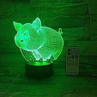 giyiohok3Dイリュージョンランプはイスラム教徒のためのイスラム常夜灯を導きました7色ラマダンのための装飾ギフトUSB効果テーブルランプスリーピングライトキッズ-B6-B22