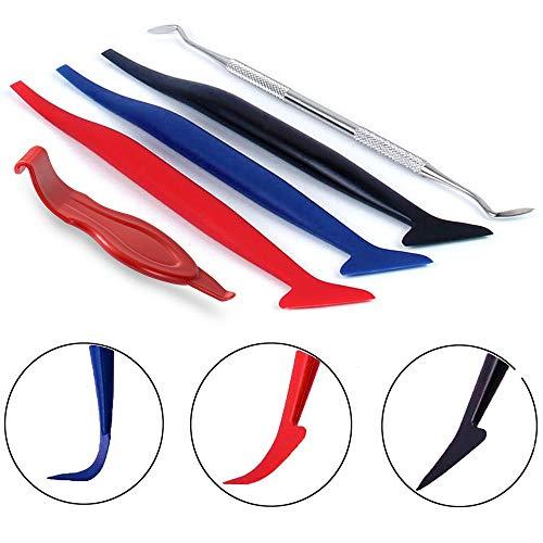Fuers Car Wrapping Tools Vinyl Werkzeug mit 5 in 1 Auto-Film Werkzeug, Aluminiumfolienkanten-Verschlussstopfens, der für Autofolie und Autofolie verwendet Wird Auto Vinyl Wrap Set