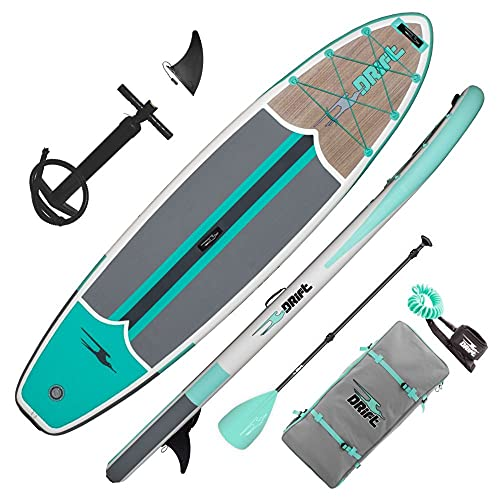 """Drift 11'6"""" Inflatable Stand Up Paddle Board, SUP with Accessories 