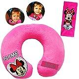 alles-meine.de GmbH 2 TLG. Set _ Nackenkissen / Nackenrolle & Gurtpolster __  Disney Minnie Mouse  -...
