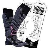 Chatterbox Socks CBX Technical Compression Ski Socks - Ski Socks - Naturally Anti-odour, Breathable Warm Dry Comfy