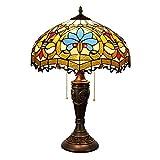 CENPEN Estilo Tiffany Cubierta Tiffany Lámpara de Mesa del Arte del Cristal de la Sala de decoración de lámpara de Mesa