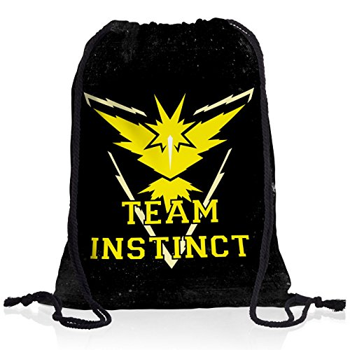 CottonCloud Team Instinct Rucksack Tasche Turnbeutel Sport Jute Beutel Gelb Instinkt, Rucksack Farbe:Motiv 2
