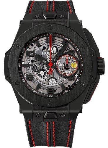 Hublot Ferrari Herren-Armbanduhr mit automatischem Zifferblatt, schwarze Keramik, Schwarz