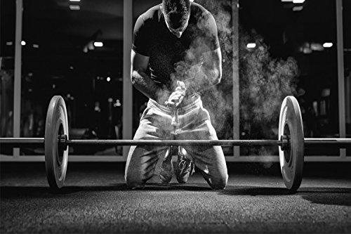 Fitness Hantel Langhantel Training XXL Wandbild Kunstdruck Foto Poster P0625 Größe 120 cm x 80 cm, Größe 120 cm x 80 cm