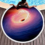 LIFUQING Adulto Grande Redondo Piña Flor Pizza Pizza Microfibra Donut Toalla De Playa Hamburguesa Sandía Estera De Playa Servilleta Deplage150X150Cm