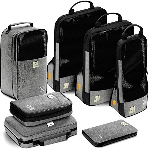 VASCO Unisex-Adult (Luggage only) Packing Cubes Set, Grey