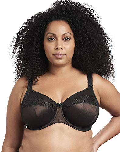 Goddess Women's Plus Size Sarah Medium Coverage Banded Underwire Bra, Black, 40N